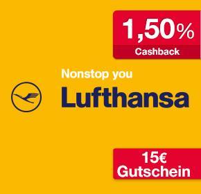 Lufthansa: Bis zu 20 € Gutschein + 1,5% Cashback bei Qipu