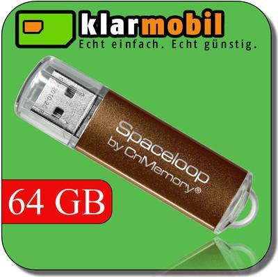 Klarmobil SIM-Karte & 64 GB CnMemory Spaceloop USB Stick für 4,95€