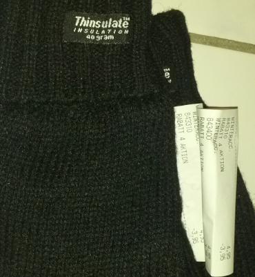 Thinsulate Handschuhe für 1Euro in den H&M Filialen und auch andere Handschuhe