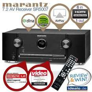 Marantz SR5007 7,2-Netzwerk-Receiver mit AirPlay, 3D-Unterstützung und 4K Upscaler