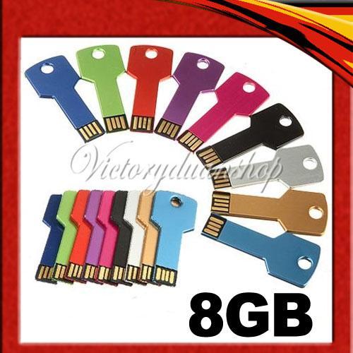 USB-Speichstick Schlüssel mit 8GB - diverse Farben - für nur 6,98 EUR inkl. Versand