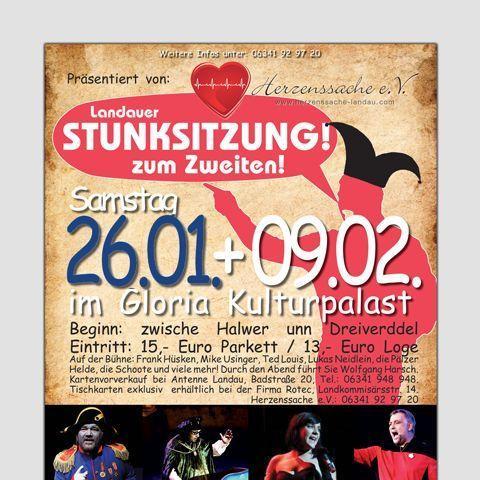 Für nur 1 € statt 13 € zur 'Landauer Stunksitzung zum Zweiten!' am 26.01.2013