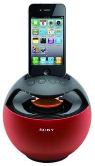 Sony Dockingstation RDPV20iPR in rot @dealclub