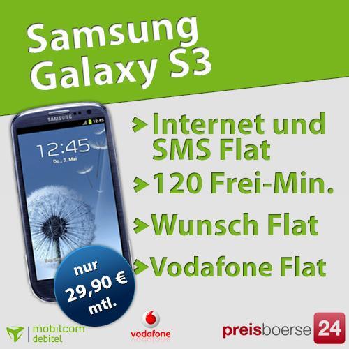 großer Vodafone Vertrag mit Samsung Galaxy III