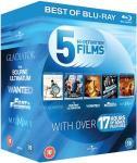 Blu-ray Action Starter Pack mit 5 Filmen (Gladiator, Bourne Ultimatum, Wanted, Fast & Furious 4, Die Mumie) inkl. deutscher Tonspur für ca. 10,80 Euro inkl. Versand @Zavvi
