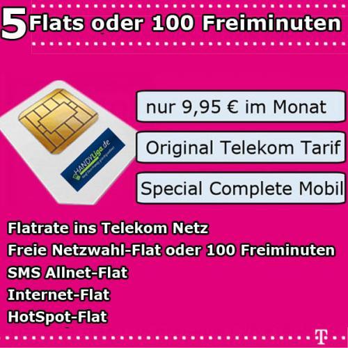 Telekom Special Complete Mobil für 9,95 € im Monat