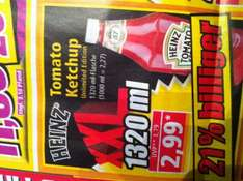 NORMA - Heinz Ketchup 1320 ml für 2,99