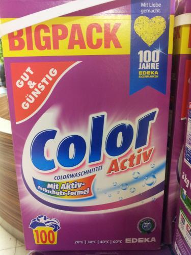 (Lokal) 100 Waschladungen (8kg) Colorwaschmittel  für 5, - €