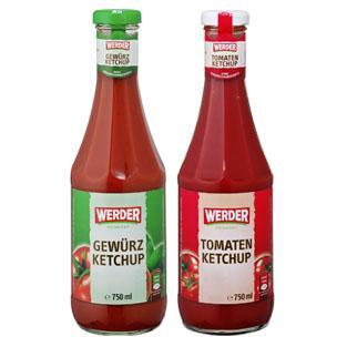[real,-] Werder Ketchup 750ml für 1,19€ (d.h. 40% billiger) (Region Berlin)