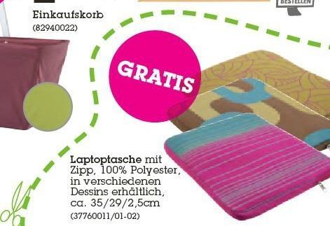 """[Offline MÖMAX] Notebooktasche (15""""?!) - verschiedene Designs - GRATIS"""