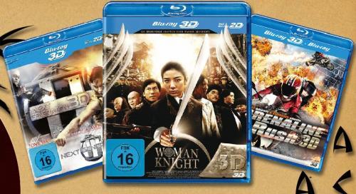"""""""Asia-Action Paket in 3D"""", 3 x 3D Blu-rays für nur 26,98 EUR inkl. Versand!"""