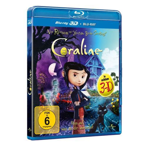 Coraline (+ Blu-ray) [Blu-ray 3D] für 10,97 € @ Amazon.de