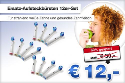 12 Ersatz- Aufsteckbürsten.. passend für viele Elektrische Zahnbürsten