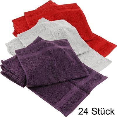 24x Facotti Walk-Frottier-Handtücher in drei verschiedenen Farben für 14,99€ macht  0,63€ pro Handtuch