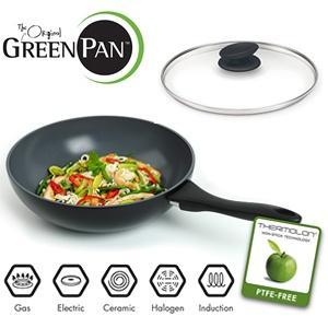 Der Original GreenPan-Kiyoto Wok mit Deckel für 29,95€