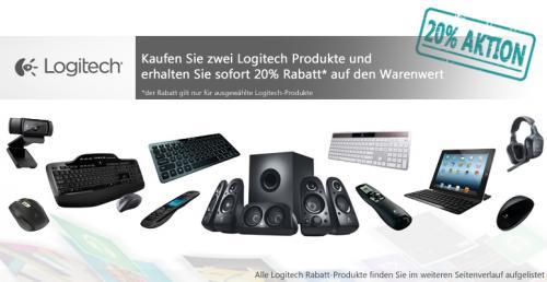 Logitech 20% Rabatt Aktion bei notebooksbilliger.de