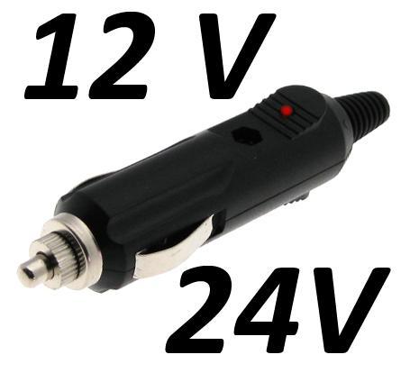 Kfz Auto Zigarettenanzünder-Stecker mit 3 Ampere Sicherung für nur 1,70 EUR inkl. Versand!
