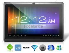 "7"" Android 4.0.4 A13 1.2GHz Tablet PC with External 3G, 1080P Playback, Capacitive Touch (4G) (Black)"