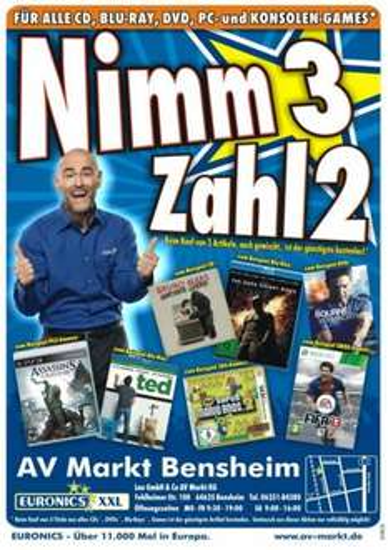[lokal Bensheim] NIMM 3 - ZAHL 2 AKTION im AV Markt [nähe Darmstadt]