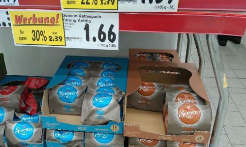 Senseo Packungen im Kaufland Regensburg für 1,66€
