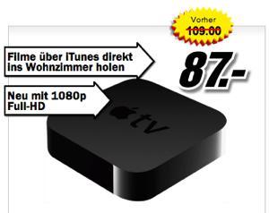 [Schweiz] AppleTV3 für 70,48€ (87 CHF)