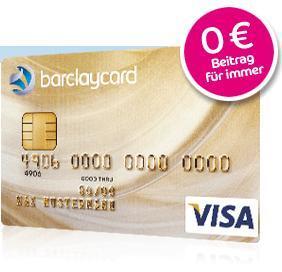 Barclaycard Gold Visa dauerhaft beitragsfrei mit Gutschein-Code (per Post offiziell)