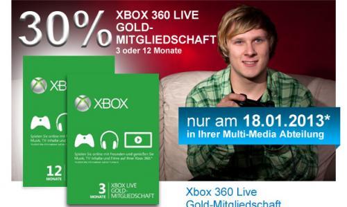 XBOX Gold -30% bei Müller am 18.01.2013