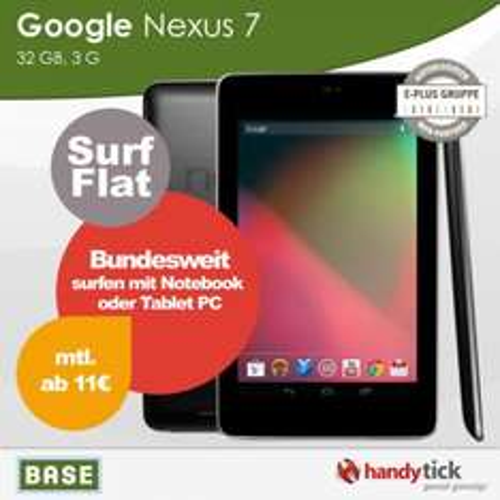 Nexus 7 32GB 3G + 500MB e-Plus Flat
