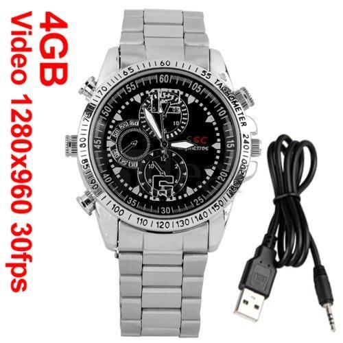 Armbanduhr 960P Mini HD DV Video-Spionkamera Spycam 30fps für 20,99€ inkl. VSK