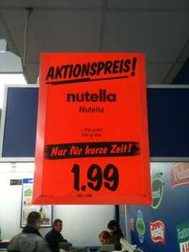 [Lokal] Lidl Duisburg (Bundesweit?) 550g Nutellaglas für 1,99€