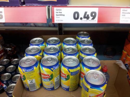 "Lipton Ice Tea ""Sparkling"" 0,49 Cent Penny Apensen"