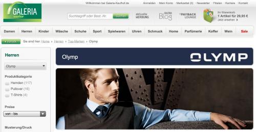 Olymp Hemden im Galeria Kaufhof Onlineshop für 29,95€