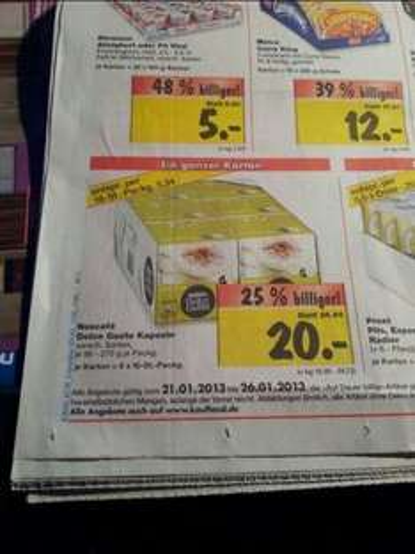 [Lokal] Karton Dolce Gusto 20€ (Packung 3,34) @Kaufland Augsburg