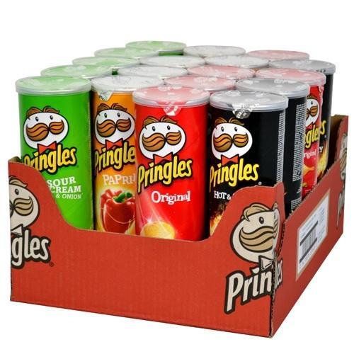 18 Dosen Pringles à 165g für 17,82€ + 4,50€ Versand [online] || Stückpreis 1,24€