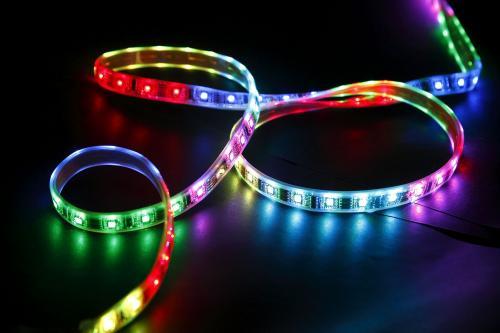 5m RGB 60 LED/m Strip + Fernbedienung + 12v Netzteil