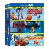 [Blu-ray 3D] Wolkig mit Aussicht auf Fleischbällchen, Jagdfieber, Monster House -  Box