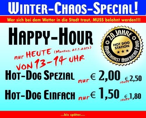 [LOKAL] Hot-Dog Happy Hour - Heute 13-14 UHR Münster City