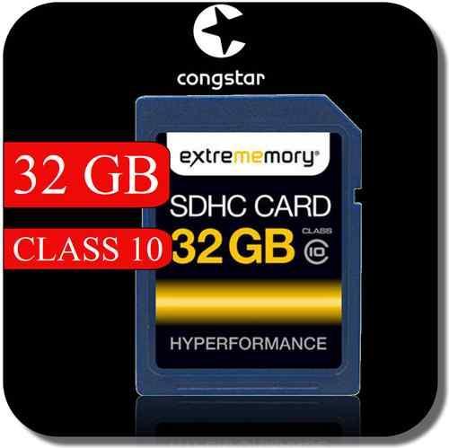 32 GB Extrememory SDHC SD Class 10 Speicherkarte + congstar Prepaid