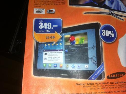 """[Schweiz] Samsung Galaxy Tab2 10,1"""" - 32 GB WiFi - Silber"""