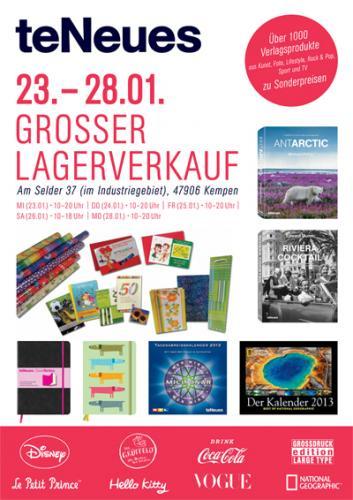 (Kempen) Lagerverkauf von Deutschlands größten Kalender-Hersteller teNeues