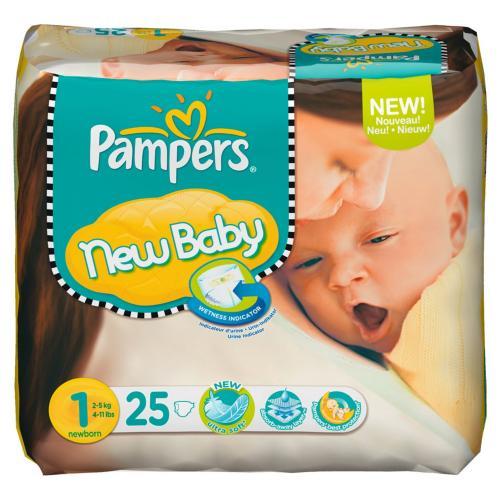 6x Pampers New Baby Windeln Gr.1 à 25 Stück für insgesamt 6 Euro