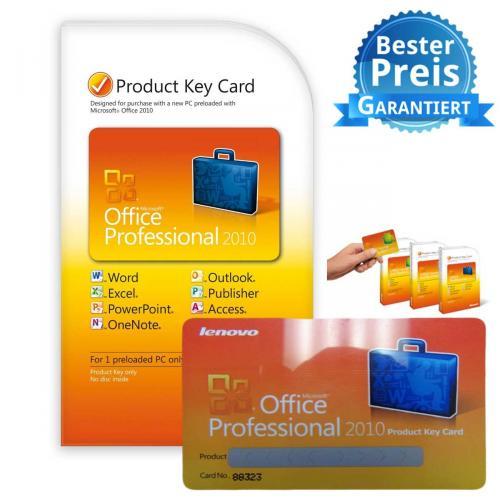 LENOVO Microsoft Office Professional 2010 für €149,- zu haben