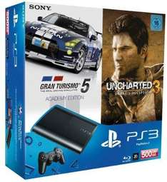 Sony Computer Entertainment PS3 - Konsole Slim 500 GB (+ Uncharted 3 (GOTY) + Gran Turismo 5)