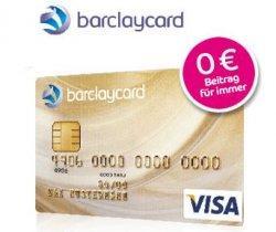 Barclaycard GOLD dauerhaft kostenfrei statt 49€