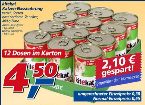 REAL bundesweit -  kitekat 12x400g Dose Katzenfutter - 31% Ersparnis