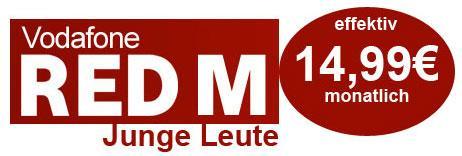 Vodafone RED M Junge Leute SimOnly Rabatt effektiv 14,99€