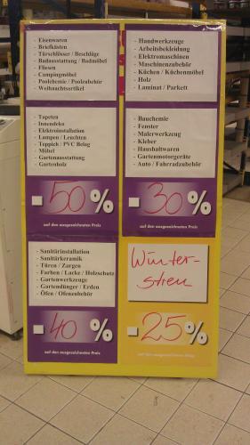 [Lokal Leipzig/Rückmarsdorf , Praktiker ] 30% , 40% , 50% , Räumungsverkauf , viel Auswahl !