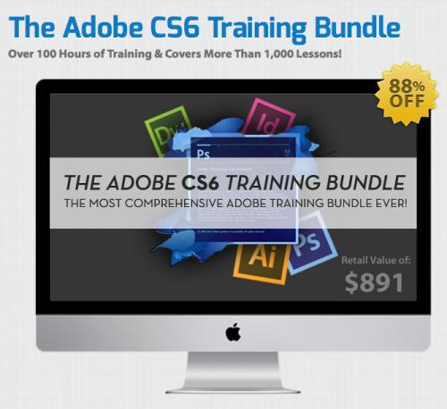 Das Adobe CS6 Training Bundle - 100h Video Tutorials für die aktuelle Creative Suite für 74.30€ - 88% gespart