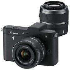 Nikon 1 V1 Schwarz Systemkamera inkl. 10-30mm+ 30-110mm