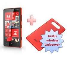 Nokia Lumia 820 (red) + gratis Charging Cover CC-3041